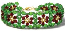 Christmas Bracelet Pattern at Sova-Enterprises.com lots of free beading patterns and tutorials are available!