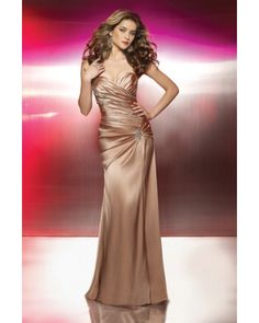 Strapless Sweetheart Sequin Decorated Long Evening Dress