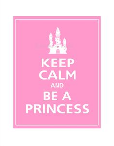 Keep Calm and BE A PRINCESS with ice cream castle by PosterPop, $10.95