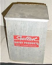 VINTAGE SEALTEST DAIRY PRODUCTS GALVANIZED PORCH MILK BOX COOLER | http://www.cbuystore.com/page/viewProduct/9999386 | Canada