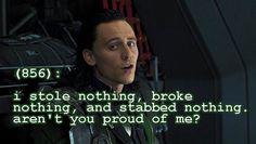Loki- Texts for the Avengers Loki Thor, Tom Hiddleston Loki, Loki Laufeyson, Avengers Texts, Marvel Avengers, Marvel Comics, Marvel Films, Marvel Funny, Marvel Memes