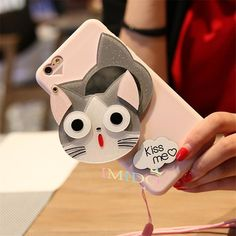 50% OFF + FREE SHIPPING <TODAY ONLY> This phone case features a cute and funny cat face with large eyes, kitten whiskers and all that belongs to the cat and the little magic is about that you can move the cat face aside and a makeup mirror appears behind it and especially when you are out in the disco and you just wanna look like awesome and you got seriously dolled up before, you can check on whether your makeup still sits in the right spot and if its not, use the mirror and make yourself…