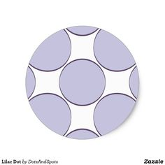 Lilac Dot Rectangular Sticker
