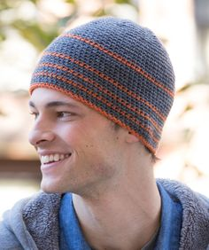 Stay comfy all winter long with this wool-blend beanie. It's quick to crochet, so it's a great choice for gifting to friends!
