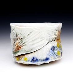 Teabowl Fish Cup Trout Mug- Porcelain, Wood Fired to Cone 13  Fish Art, Conservationist, Nautical, River, Stream, Nature,Wildlife Art, Fisherman,Brook Trout, Yunomi, Chawan,Ceramics, Cup, Pottery, Yellow, Red, Black, Orange, Green, Blue, Beverage, Tea, Wine https://www.etsy.com/listing/94235802/wood-fired-pottery-cone-13-brook-trout?ref=shop_home_feat_1