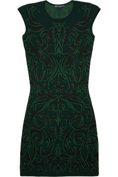 Alexander Mcqueen Patterned Knitted Dress in Green | Lyst; $1195