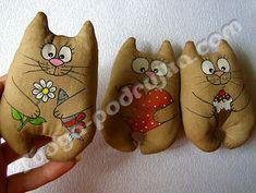 Игрушка кофейная «Котик-магнит» своими руками