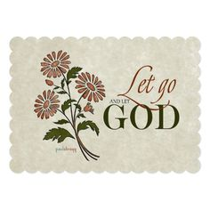 5f3ba45c5f42 5x7 Poster  Let Go and Let God (Recovery Quotes) Let go of your