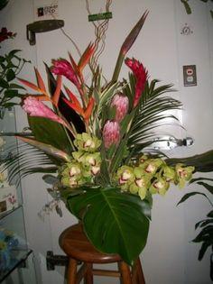 tropical arrangeements for wedding archs | CR Flowers & Gifts ~ A Bracebridge Florist | (705) 645-9990 ...