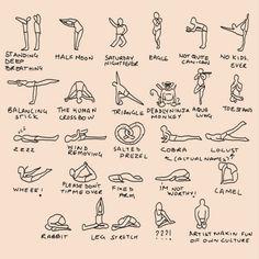 Funny yoga poses