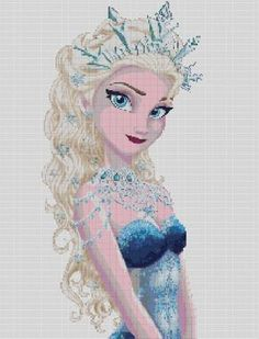 Counted Cross Stitch pattern or kit Ice Queen Elsa by dueamici