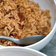 Red Rice: I added black beans (and once, even added cannelinni beans) and it was delicious! - MM