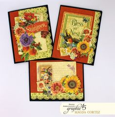 Hello, G45ers! 'Tis the season for Magda Cortez's Seasons Last Minute Card Set, the perfect gift idea! This set can be made quickly by following the included YouTube tutorial, and look at those beautiful results! We also love the upcycled box she designed to hold the cards. Check it all out below
