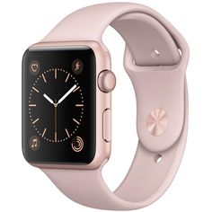 Apple Watch Series 1 42mm Rose Gold Aluminum Case with Pink Sand Sport... ($299) ❤ liked on Polyvore featuring jewelry, watches, accessories, pink sand, sport watches, pink watches, sports jewelry, red gold watches and special occasion jewelry