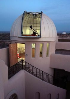 Las Crucas Observatory Home - Telescope Silo House, My House, Astronomical Observatory, Dream Rooms, Telescope, My Dream Home, Exterior Design, Future House, Architecture Design