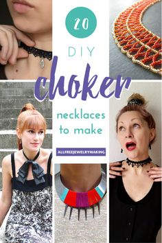 20 DIY Choker Necklaces to Make | Don't miss out on this fun trend! Check out this assortment of chokers that are perfect for all year round!