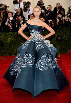 Karolina Kurkova wearing an amazing Marchesa dress at the MET Gala.