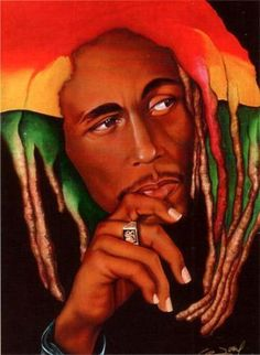 One Love(Bob Marley) by Gerald Ivey Caricatures, Don Corleone, Sheila E, Foto Poster, Black Art Pictures, By Any Means Necessary, Black Artwork, Photoshop, Afro Art