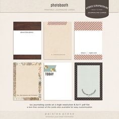 More lovely journaling cards.