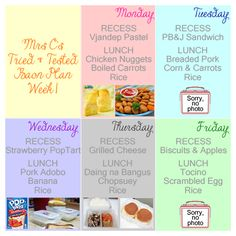 Tried and tested lunch box meals that I've prepared for my son to take to school.