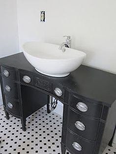 Old Dresser To Vanity. I Have A Little Vanity Like This In My Shed. Diy  Bathroom ...
