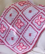 The little girl you love will love this #Crochet Butterfly Blanket.