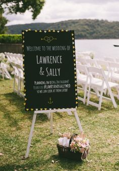 Welcome Sign - wedding Ceremony