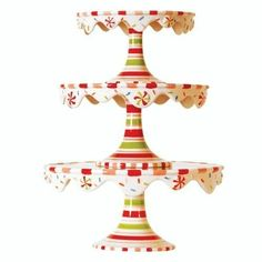 Glitterville Christmas Stacking Cupcake or Cake Pedestal Stands / Plates, Set of 3 Sizes, Ceramic  http://www.fivedollarmarket.com/glitterville-christmas-stacking-cupcake-or-cake-pedestal-stands-plates-set-of-3-sizes-ceramic/