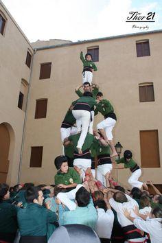 Xiquets d'Alcover - 3d6a - Caldes de Montbuí 11/11/2012 Diada dels Castellers de Caldes