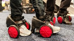 Electric wheels, made by SPNKIX, go 10 miles per hour for seven miles and sell for $699.