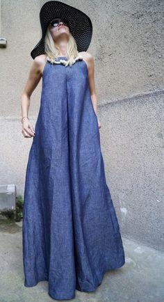XXL XXXL Dress/Floor length dress/Summer Dress/Linen by FloAtelier From work dresses and skirts to j