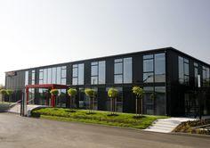 STRABAG office building in Dubi (Czech Republic), front view Office Buildings, Czech Republic, Building Ideas, Detached House, Homes