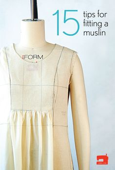 Sewing Techniques Couture 15 tips for fitting a muslin by Liesl Gibson oliver s - If you're thinking about making a muslin, here are 15 tips that will help you get the best results and get you cutting and sewing sooner! Sewing Basics, Sewing Hacks, Sewing Tutorials, Sewing Tips, Sewing Ideas, Dress Tutorials, Sewing Patterns Free, Free Sewing, Clothing Patterns