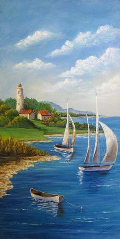 New  NEWPORT BAY An Original Fine Art Painting by DianeTrierweiler, $149.99