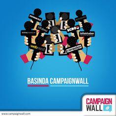 Basında sosyal medyayı takip eden duvar #CampaignWall www.campaignwall
