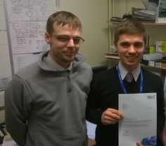 #ITEC North East Apprentice Thomas Stanier receiving his Apprenticeship Achievement Award from his supervisor (and ex-ITEC Apprentice!!!)) Travis Stubley who both work at Teesdale School, Barnard Castle. Thomas has been acknowledged not only for his input into his Apprenticeship but also for his willingness to contribute his time and efforts towards a number of extra-curricular activities. Well Done Thomas !