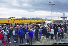 On January 4, 1996, Utah celebrated 100 years of statehood. Both the Union Pacific and the Southern Pacific ran passenger specials on January 3rd to commemorate the occasion. It was a big day for the nearby mining town of Eureka (population 600) and the Tintic High School marching band who performed a series of tunes mixed with speeches by the governor and other dignitaries. The train began its journey early at Cedar City and tied up at the Union Pacific passenger station in downtown Salt…