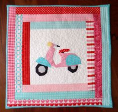 Cutie Scootie Patootie quilted cushion by Missy Mac Creations