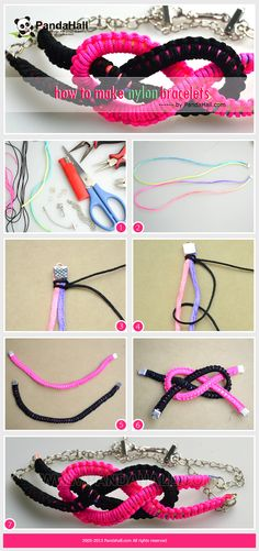 "Here I prepare the ""how to make nylon bracelets"" tutorial which aims to help you use a different way to make bracelets out of string; this bracelet we are going to make is sailor knot bracelet; hope you will enjoy!"
