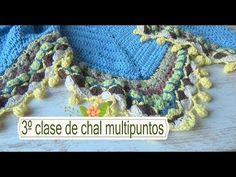 Como hacer chal en crochet multipuntos |3º clase |ganchillo facil - YouTube