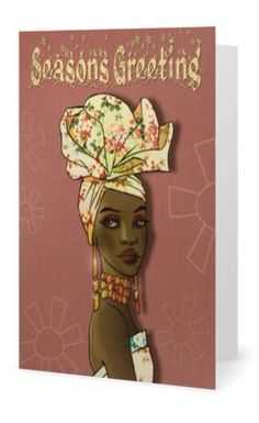 Afrocentric greeting cards from Ma Nubiah Christmas Greetings, Holiday Cards, Christmas Cards, Xmas, Happy Face Emoticon, Brown Girl, Art Images, Wedding Stationery, Projects To Try