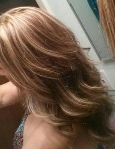Blonde and caramel highlights