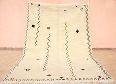 Marokkanischer Teppich 2x3, Handgeknüpfter Wollteppich aus reiner Schafwolle, Berberteppich mit minimalistischem Design, Weicher Florteppich