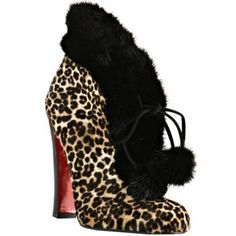 Christian Louboutin Leopard Calf Hair Mouflette Ankle Boots At Bluefly Red Sole Shoes
