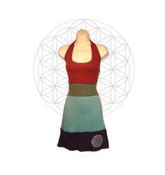 Halter Dress Organic Cotton and Hemp Sundress   by MysterySchool