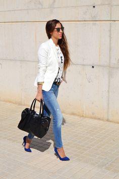 30+ Blue heels outfit ideas | blue
