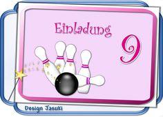 Einladungskarte+Kindergeburtstag+Kegelbahn+bowlen+von+♪+♫+♪+++Kindergeburtstag+Store++♪+♫+♪+auf+DaWanda.com