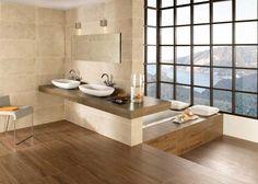 Floor tile ideas, like the window