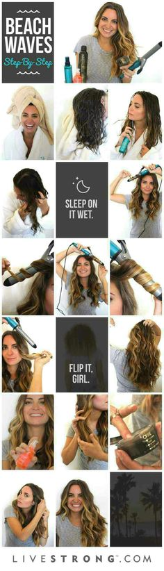 Step by step beach waves #Beauty #Trusper #Tip