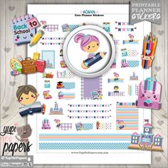 Back to School Planner Stickers by www.YupiYeiPapers.Etsy.com